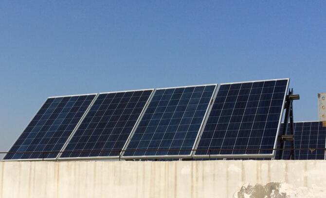 公司厂房屋顶2kw光伏电站已完工